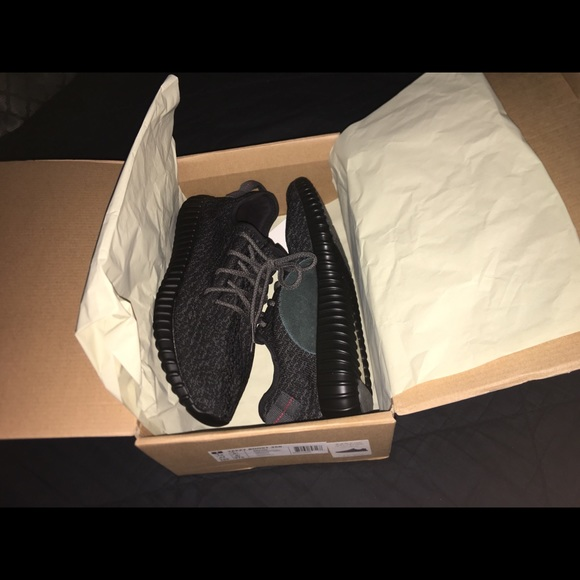 sports shoes dd6da b1d45 Yeezy boost 350 v1 pirate black size 10